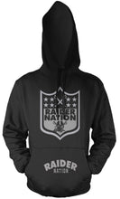 RAIDER NATION BLACK & SILVER HOODIE (LIMITED EDITION)