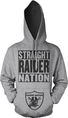 STRAIGHT RAIDER NATION SILVER & BLACK HOODIE (LIMITED EDITION) OAKLAND RAIDERS EDITION