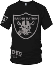 RAIDER NATION SKULL BLACK T-SHIRT (LIMITED EDITION) OAKLAND RAIDERS AL EDITION
