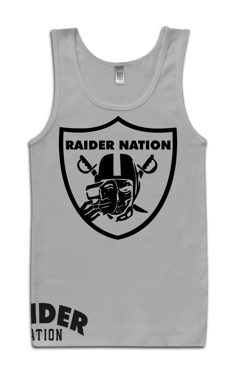 RAIDER NATION SKULL GREY TANK TOP (LIMITED EDITION) OAKLAND RAIDERS