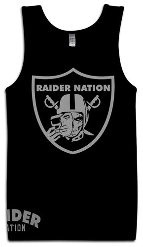 RAIDER NATION SKULL BLACK TANK TOP (LIMITED EDITION) OAKLAND RAIDERS