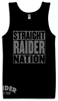 STRAIGHT RAIDER NATION NATION BLACK TANK TOP (LIMITED EDITION) OAKLAND RAIDERS