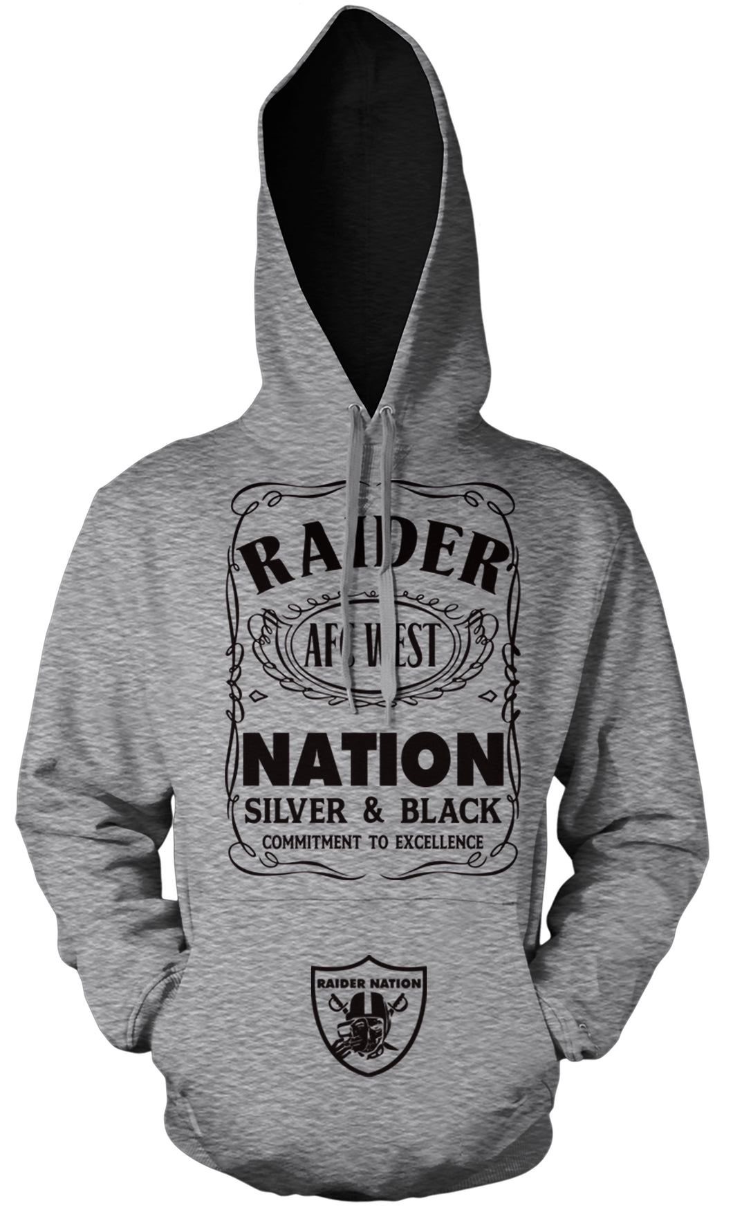RAIDER NATION SILVER & BLACK HOODIE (LIMITED EDITION)