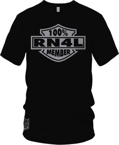100% RN4L MEMBER BLACK T-SHIRT (LIMITED EDITION) RAIDER NATION EDITION