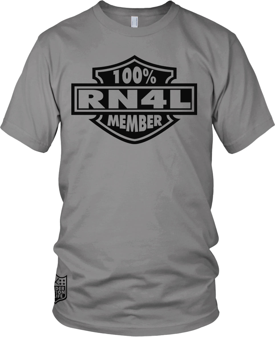 100% RN4L MEMBER GREY T-SHIRT (LIMITED EDITION) RAIDER NATION EDITION