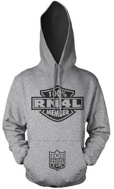 100% RAIDER NATION 4 LIFE SILVER & BLACK HOODIE (LIMITED EDITION)