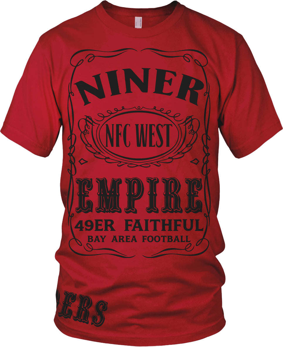 NINER EMPIRE RED & BLACK T-SHIRT (LIMITED EDITION) SAN FRANCISCO 49ERS EDITION