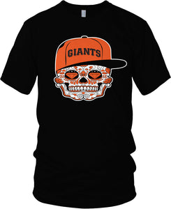 GIANTS CANDY SKULL BLACK T-SHIRT (LIMITED EDITION) SAN FRANCISCO EDITION