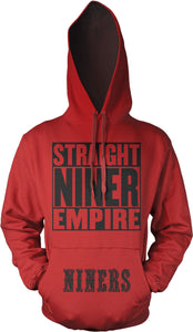 STRAIGHT NINER EMIRE RED & BLACK HOODIE (LIMITED EDITION) SAN FRANCISCO 49ERS EDITION