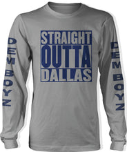 STRAIGHT OUTTA  DALLAS LONG SLEEVE GREY T-SHIRT (LIMITED EDITION)