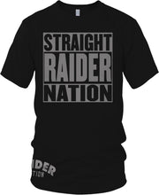 STRAIGHT RAIDER NATION BLACK T-SHIRT (LIMITED EDITION) OAKLAND RAIDERS