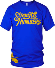GOLDEN STATE STRENGTH IN NUMBERS BLUE T-SHIRT (LIMITED EDITION) DUB NATION EDITION