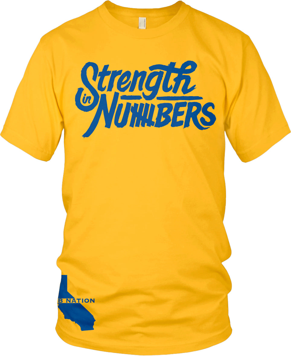STRENGTH IN NUMBERS GOLD T-SHIRT (LIMITED EDITION) DUB NATION EDITION