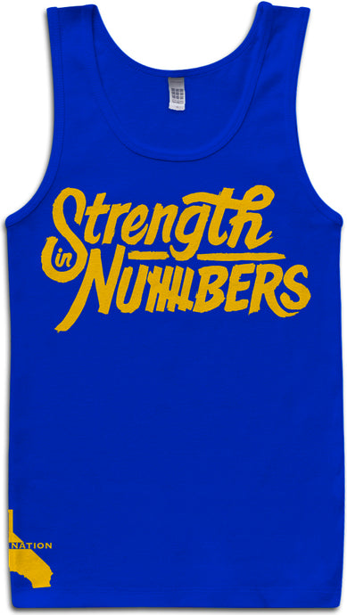 STRENGTH IN NUMBERS BLUE TANK TOP (LIMITED EDITION) GOLDEN STATE WARRIORS EDITION