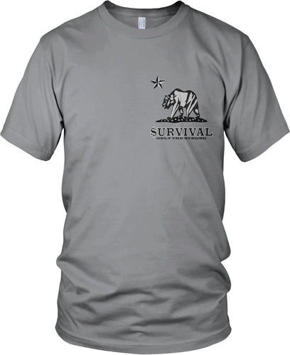 SURVIVAL ONLY THE STRONG GREY T-SHIRT (LIMITED EDITION)