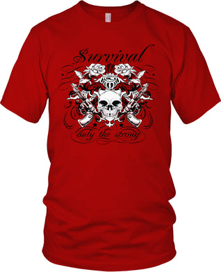 SURVIVAL - ONLY THE STRONG RED T-SHIRT (LIMITED EDITION)
