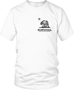 SURVIVAL ONLY THE STRONG WHITE T-SHIRT (LIMITED EDITION)