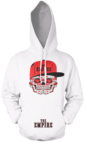 THE EMPIRE CANDY SKULL WHITE HOODIE (LIMITED EDITION)