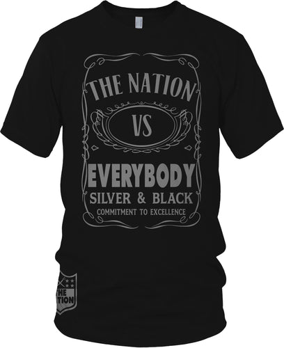 THE NATION VS EVERYBODY BLACK T-SHIRT (LIMITED EDITION)OAKLAND RAIDER EDITION