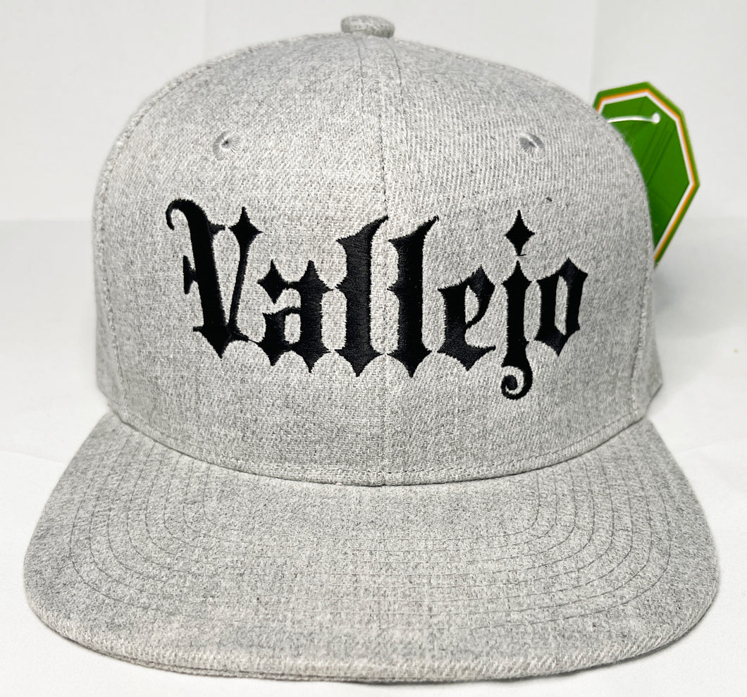 VALLEJO GREY & BLACK SNAPBACK BASEBALL HAT