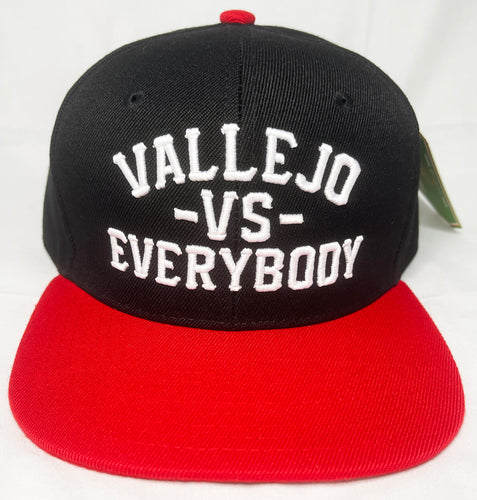 VALLEJO VS EVERYBODY SNAPBACK BLACK & RED BASEBALL HAT
