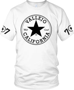 VALLEJO 707 BAY AREA CONVERSE  WHITE T-SHIRT (LIMITED EDITION)