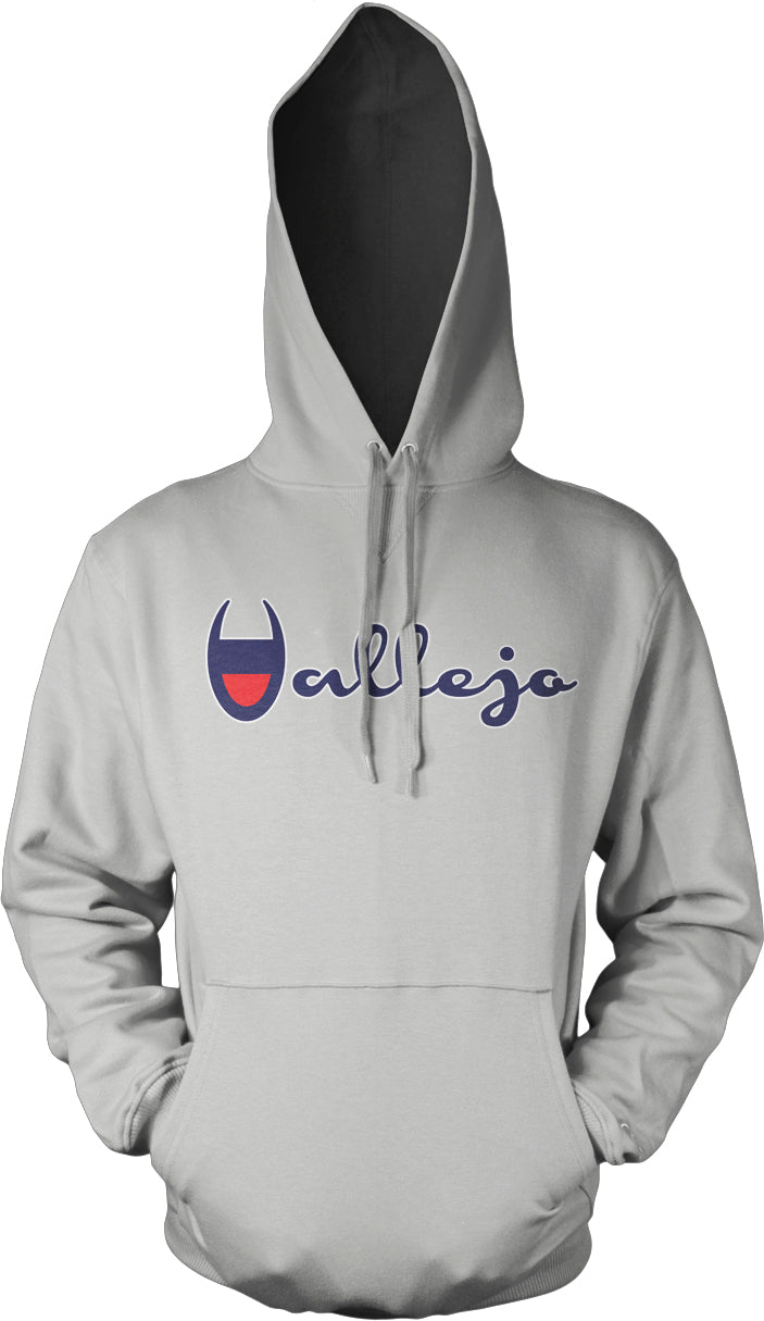 VALLEJO GREY, RED, BLUE & WHITE HOODIE (NEW)
