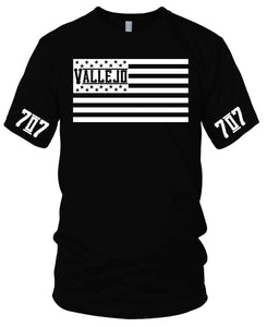 VALLEJO 707 FLAG BLACK T-SHIRT (LIMITED EDITION)