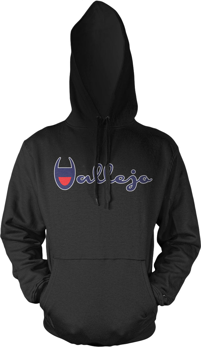 VALLEJO BLACK, RED, BLUE & WHITE HOODIE (NEW)