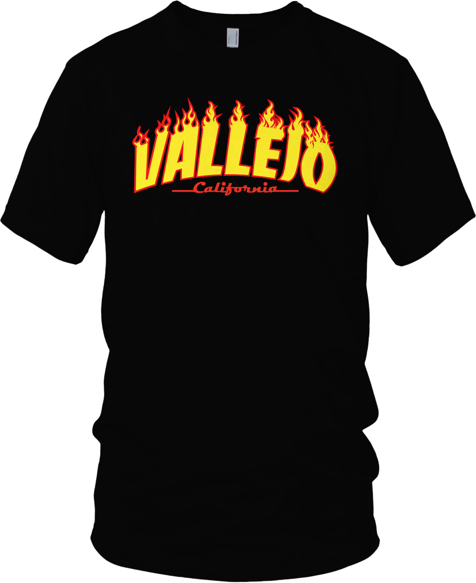 VALLEJO THRASHER BLACK GOLD & RED T-SHIRT (LIMITED EDITION)