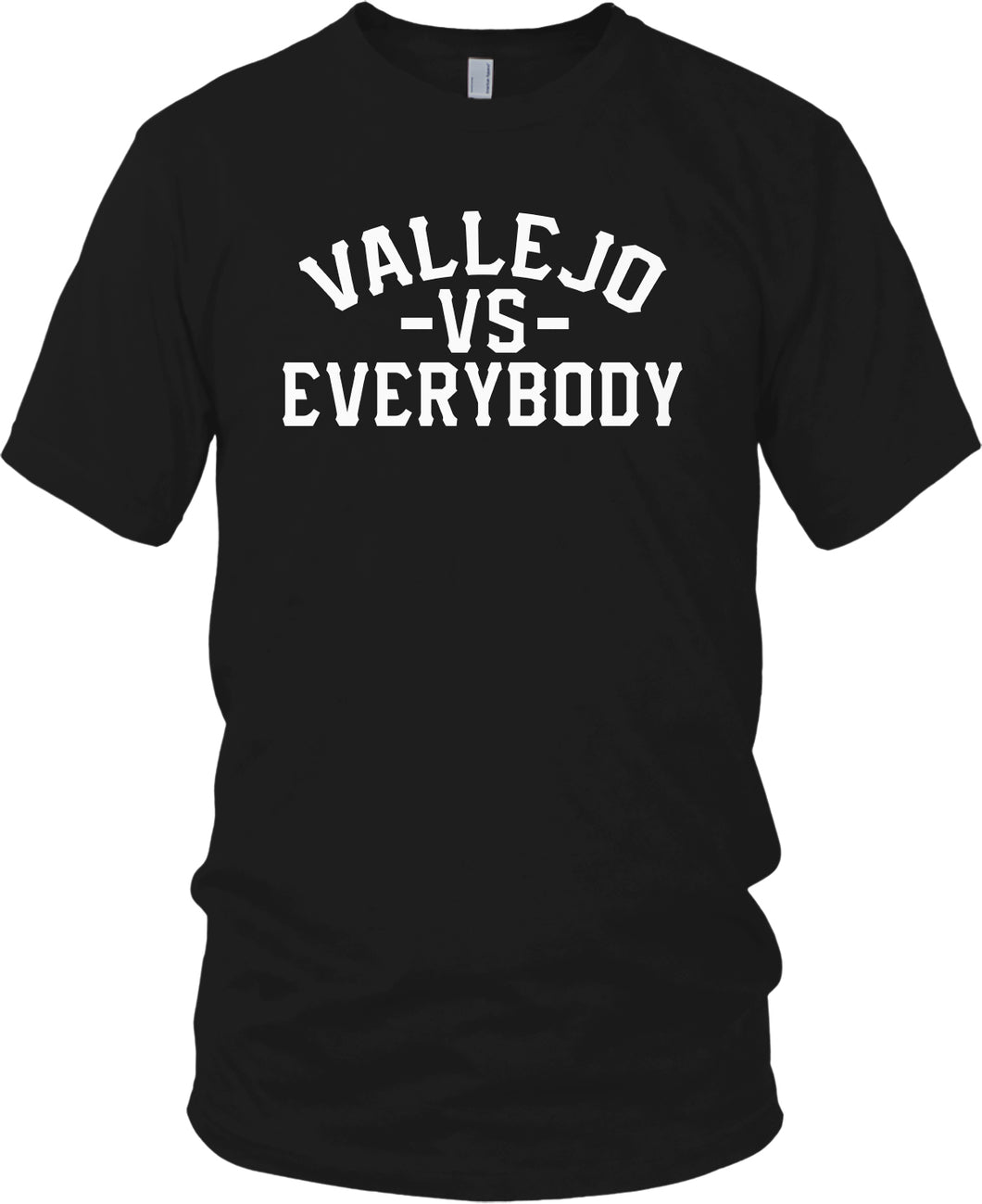 VALLEJO VS EVERYBODY BLACK T-SHIRT (LIMITED EDITION)