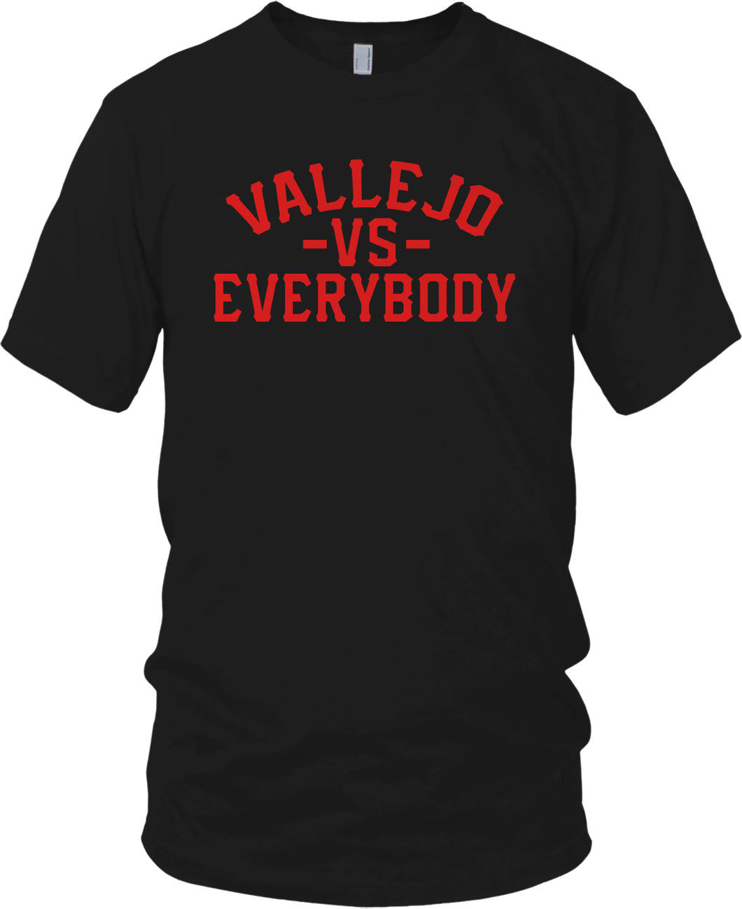 VALLEJO VS EVERYBODY BLACK & RED T-SHIRT (LIMITED EDITION)