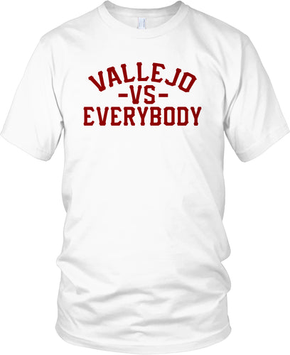 VALLEJO VS EVERYBODY WHITE & RED T-SHIRT (LIMITED EDITION)