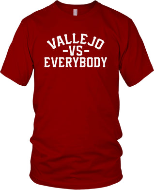 VALLEJO VS EVERYBODY RED & WHITE T-SHIRT (LIMITED EDITION)