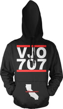VALLEJO VJO 707 BLACK, RED & WHITE HOODIE (NEW)