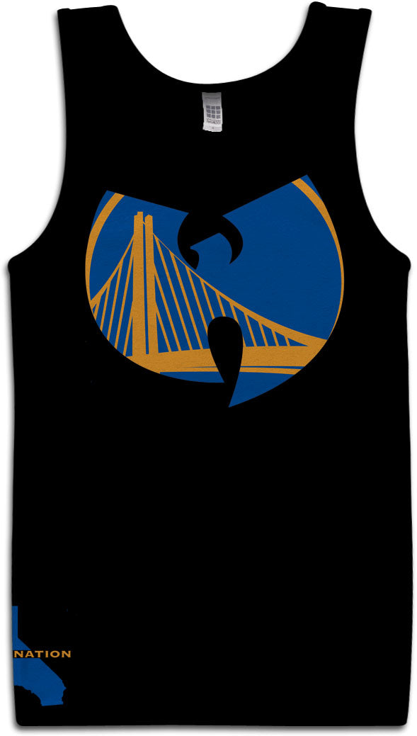 DUB NATION WU TANG BLACK TANK TOP (LIMITED EDITION) GOLDEN STATE WARRIORS EDITION