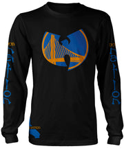 DUB NATION WU TANG LONG SLEEVE BLACK T-SHIRT (LIMITED EDITION) GOLDEN STATE WARRIORS EDITION