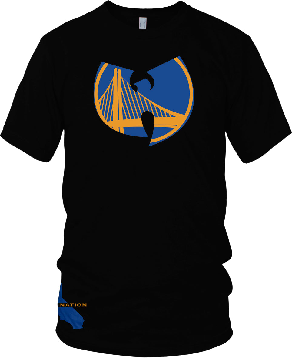 DUB NATION WU TANG BLACK T-SHIRT (LIMITED EDITION) GOLDEN STATE WARRIORS EDITION