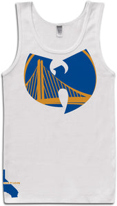 DUB NATION WU TANG WHITE TANK TOP (LIMITED EDITION) GOLDEN STATE WARRIORS EDITION