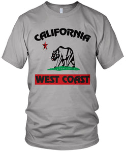 WEST COAST CALIFORNIA BEAR GREY T-SHIRT (LIMITED EDITION) MILLIONAIRE MENTALITY
