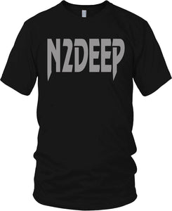 N2DEEP - FRONT & BACK PRINT BLACK & SILVER T-SHIRT (LIMITED EDITION) JAY TEE EDITION