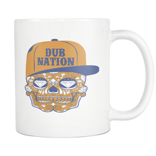 DUB NATION CANDY SKULL WHITE 11 OUNCE COFFEE MUG