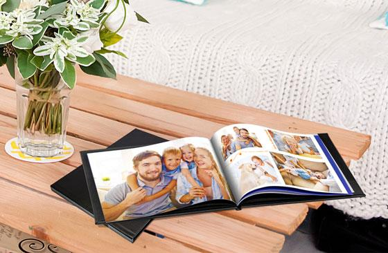 "11"" x 8.5"" Leather Photo Book  (100 Pages) 