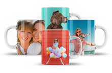 Load image into Gallery viewer, Glass Photo Mugs x4