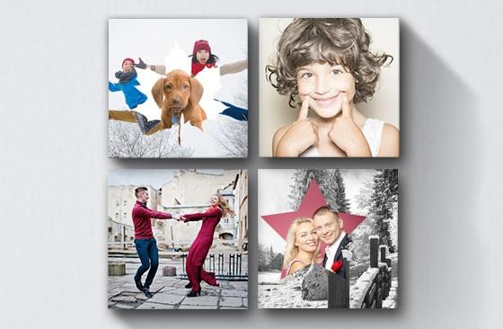 "10"" x 10"" Collage Canvas x 4
