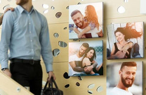"10"" x 10"" Multi Photo Canvas x 4