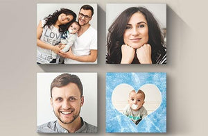 "10"" x 10"" Photo Canvas x 4