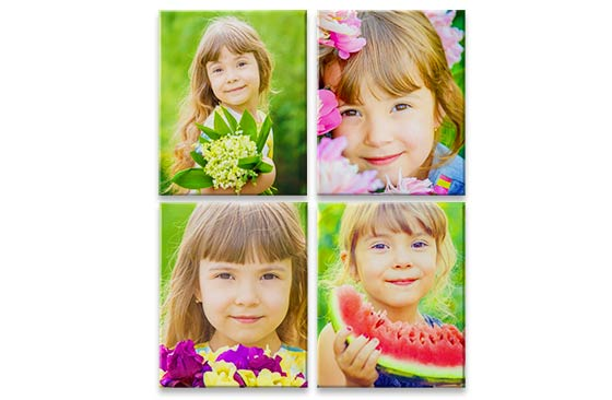 "4 Photo Canvas - 30"" x 20""