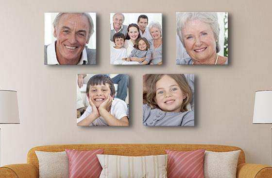 "12"" x 12"" Multi Photo Canvas x 5