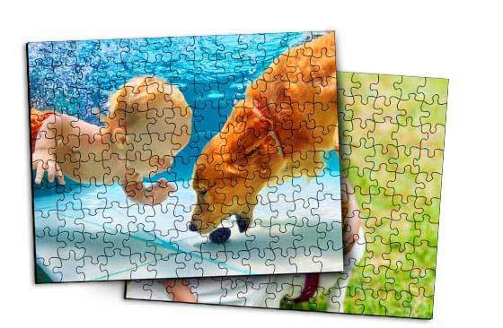 "2 x Wooden Jigsaw Puzzle- 12""x17""